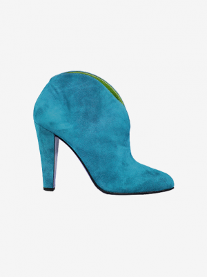 Leather Hight Heel (Sky Blue)